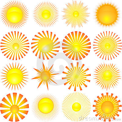 Free Sun Shapes Stock Image - 5063241