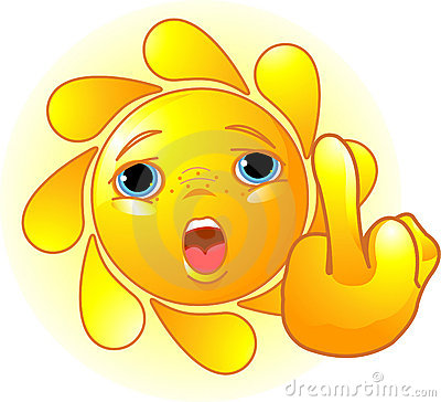 Sun shows a middle finger