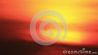 Sun sinks into the dark mist stock footage