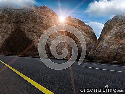Sun  sky  clouds  road
