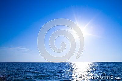Sun, sky and ocean