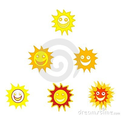 Sun Smileys Stock Photo - Image: 10252740