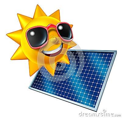 Sun With Solar Panel