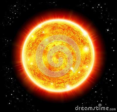 Sun in a space