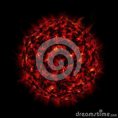 Sun in space area