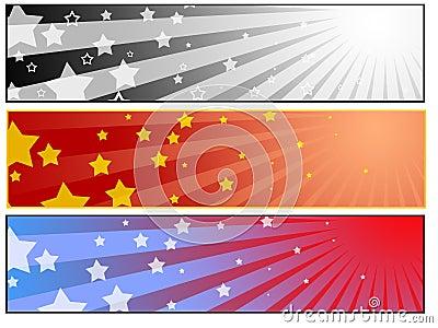Sun star banner set