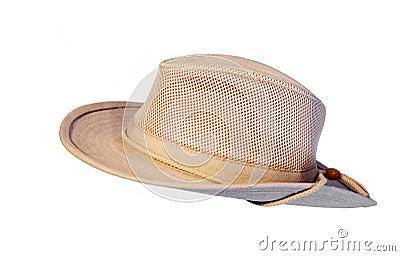 Sun summer hat isolated