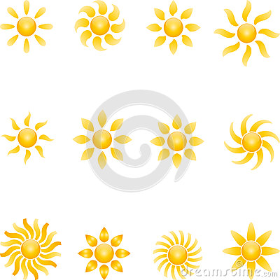 Free Sun, Sun Collection, 3D, Logo Royalty Free Stock Images - 76882399