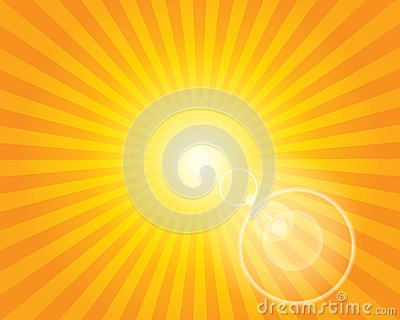 Sun Sunburst Pattern with lens flare.