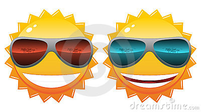 Sun in sunglasses