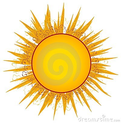 SUN SUNRAYS CLIP ART OR LOGO (click image to zoom)