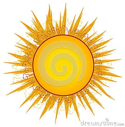 Sun Sunrays Clip Art or Logo