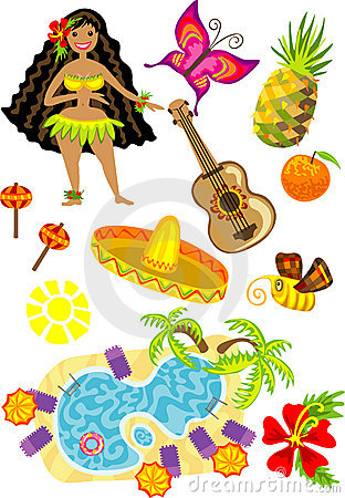 Sun, swimming pool, exotic butterfly, fruits, Hawa