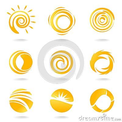 Free Sun Symbols Royalty Free Stock Photo - 13611915