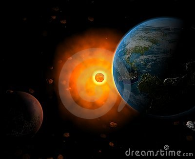 Sun system with Earth