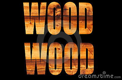 Sun tanned wood