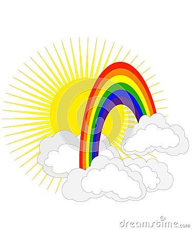 Sun und Regenbogen