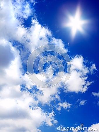Lizenzfreie stockfotografie himmel sonne wolken