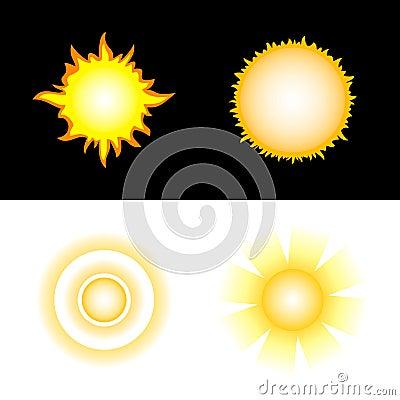 Sun. Vector icons