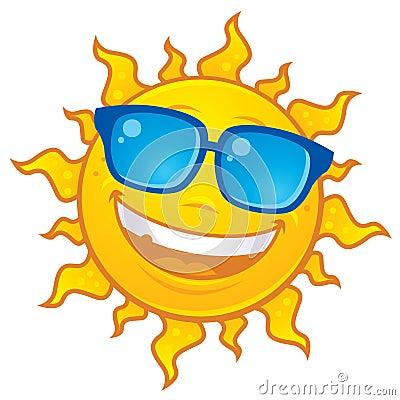 Sun Wearing Sunglasses