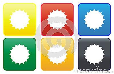 Sun web button