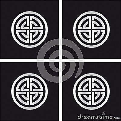 Sun wheel, celtic solar symbol