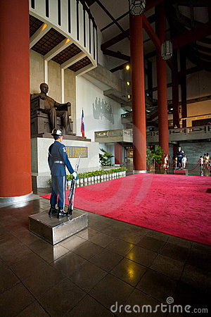 Sun Yat Sen Guards Inside Editorial Image