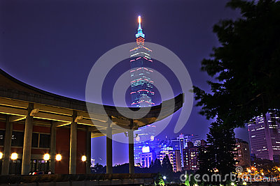 Sun Yat-Sen Memorial Hall Taipei Taiwan Night