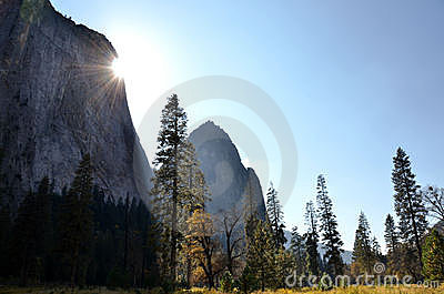 Sun in Yosemite Valley