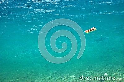 Sunbathing on adriatic waters