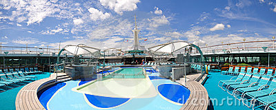 Sunbathing Deck of Legend of the Seas Editorial Photography