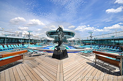 Sunbathing Deck of Legend of the Seas 2 Editorial Stock Photo