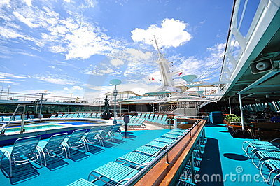 Sunbathing Deck of Legend of the Seas 3 Editorial Stock Image