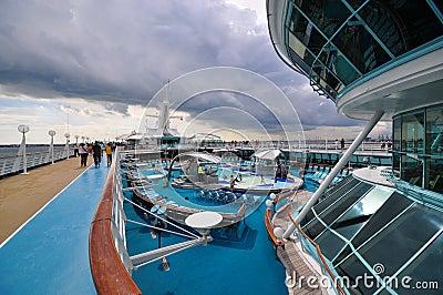Sunbathing Deck of Legend of the Seas 4 Editorial Photo