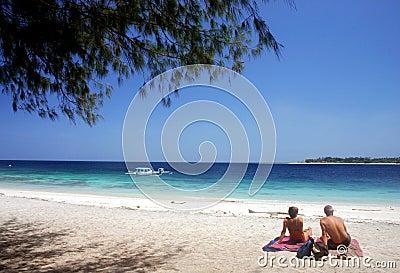 Sunbathing at Kuta Beach