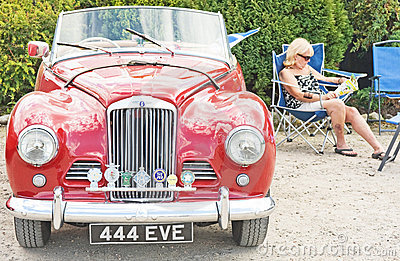 Sunbeam Alpine ; National Rally in Inverness. Editorial Stock Image