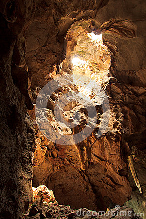 Sunbeam into the cave