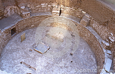 Sunbeam in Kiva Pit House in Mesa Verde National Park