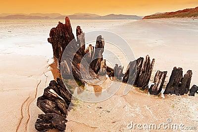 Sunbeam ship wreck on Irish beach