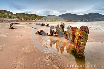 Sunbeam ship wreck on Irish beach