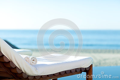 Sunbed on a beach