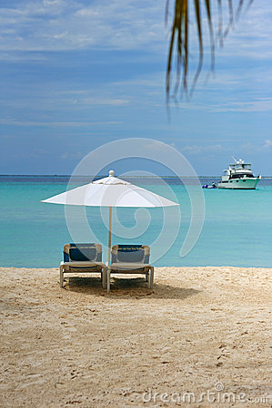 Sunbed in the beach