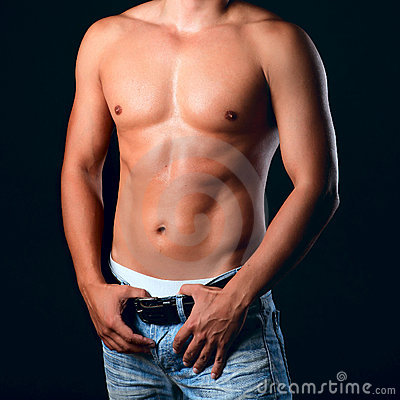 Free Sunburnt Muscular Male Torso Stock Images - 18988624