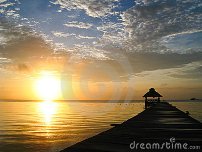 Sunburst over Belize