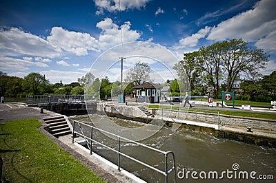 Sunbury lock, Surrey, England Editorial Stock Image