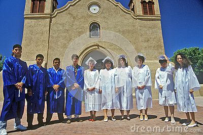 Sunday choir in in front of San Miguel Historic Editorial Image