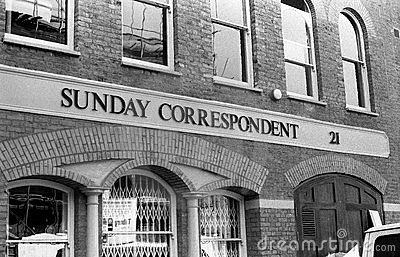 Sunday Correspondent Editorial Image