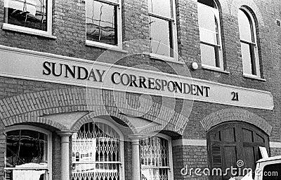 Sunday Correspondent Editorial Image
