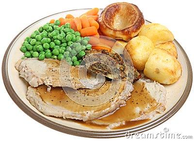 Sunday Roast Pork Dinner