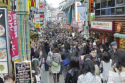 Sunday shopping at Takeshita Dori, Tokyo Editorial Photo